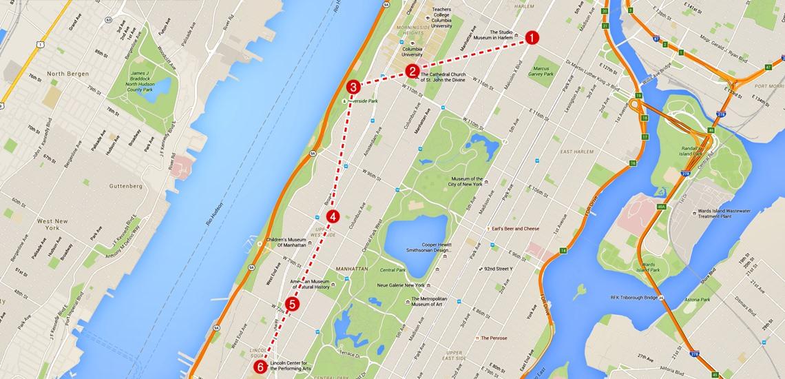 mapa nova york upper west side