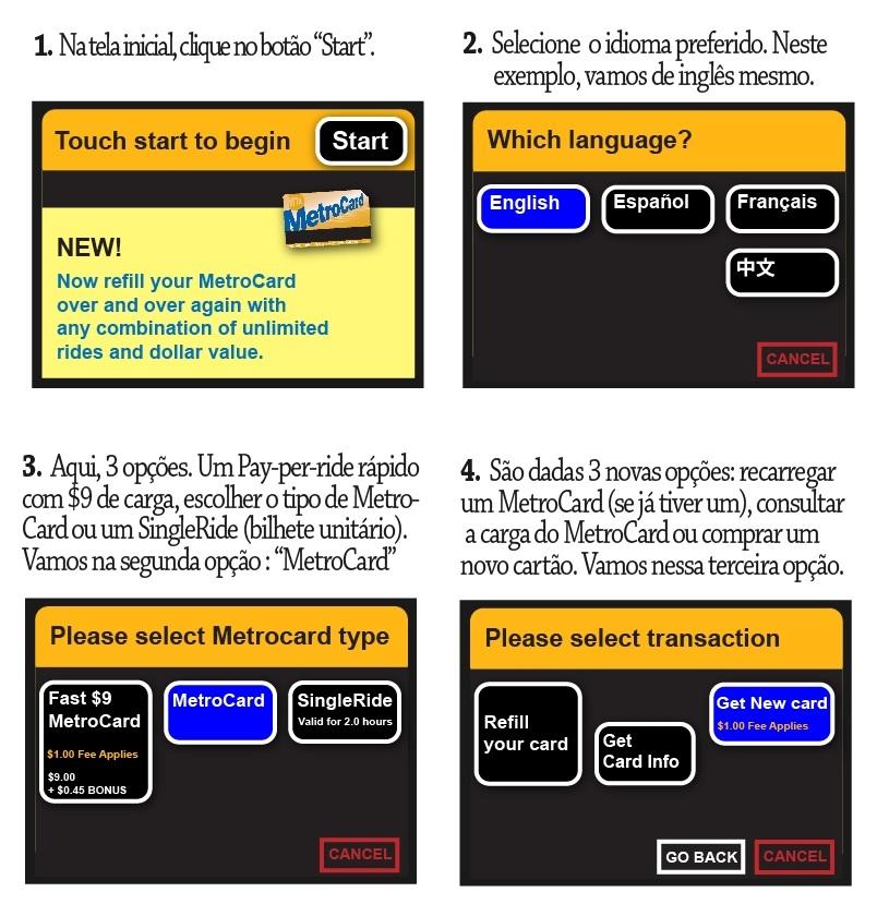 Onde comprar metrocard maquina passo a passo 7